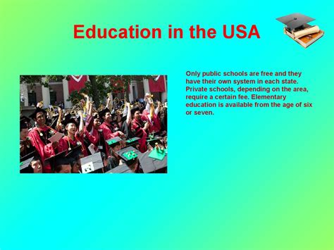 The system of education in the USA - презентация онлайн