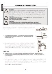 Husqvarna 315 320 Electric Chainsaw Owners Manual