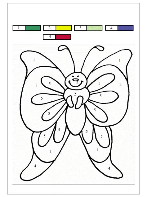 Butterfly Color By Number - Coloring Home