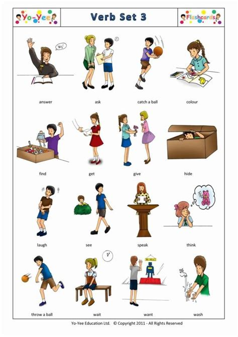Action Words and Irregular Verbs Flashcards 3