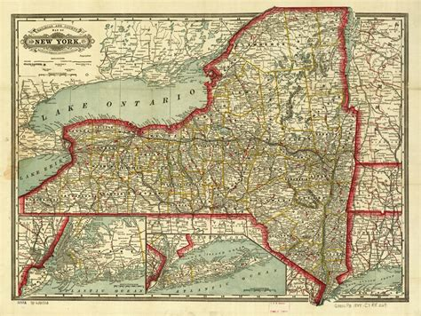 Railroad Maps, 1828 to 1900, Available Online, New York