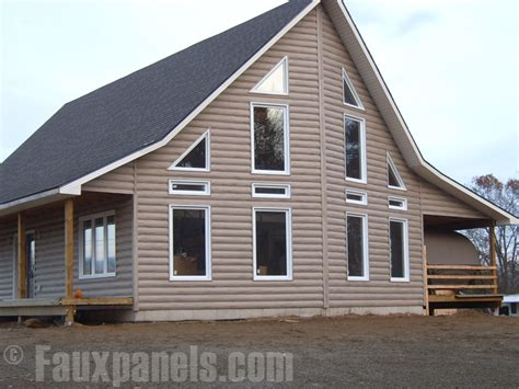 Vinyl Siding Pictures   DIY Home Ideas, Log Cabin Style