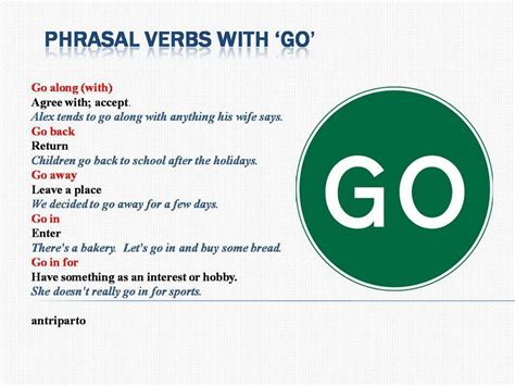 Phrasal Verbs with GO – Materials For Learning English