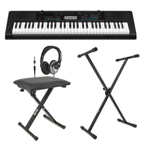 Casio CTK-3400 Portable Keyboard with Bench, Headphones
