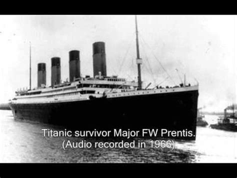 RMS Titanic Survivors True Accounts of The Sinking - YouTube