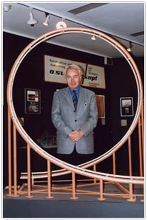 Werner Stengel and a model of a klothoide-shaped loop