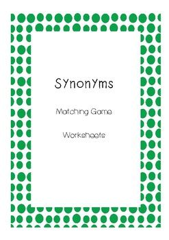Synonyms Literacy Centres by Andrea T | Teachers Pay