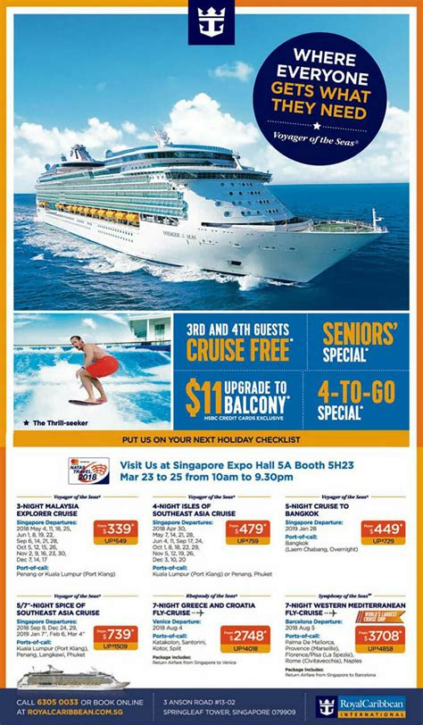 3rd and 4th guests cruise free in Royal Caribbean NATAS